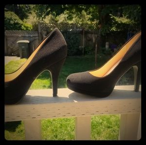 Shoes - Black platform heels